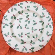 "EMMA BRIDGEWATER . Christmas Holly . 8-1/2"" PLATE spongeware . Boxed"