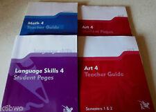 K 12 Assorted Texts 4 Art Teacher& Student+Math Teacher+Language Student Homesch