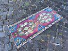 Handmade rug, Small rug, Doormats, Turkish rug, Vintage rug | 1,4 x 3,3 ft