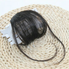2019 Thin Neat Air Bangs Remy Human Hair Extensions Clip Fringe Front Hairpiece