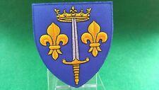 Patch brodé Blason de Jeanne d'Arc - Hauteur : 85 mm Largeur 75 mm