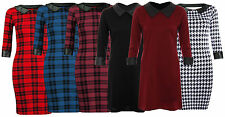Unbranded Collar 3/4 Sleeve Mini Dresses for Women