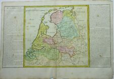 Antique map of Holland by Jean Baptiste Clouet 1787