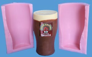 LIFE SIZE PINT GLASS SILICONE MOULD FOR CAKE TOPPERS, CHOCOLATE, CLAY ETC