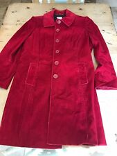 Ladies red corduroy coat  BODEN size 12