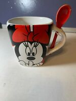 """Disney Minnie Mouse mug and spoon """"shhh I'm Taking a Time-Out"""""""