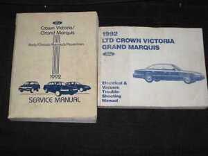 1992 Ford Crown Vic, Marquis Shop Manual 2pcs
