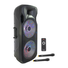 Ibiza Sound Portable Sound System 2x 15ÍÍ 1000W USB, BLUETOOTH 2x UHF MIC