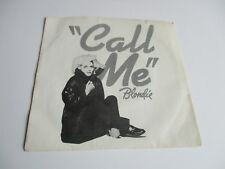 "Blondie Call Me Vinyl 7""45 RPM Single Record  Theme from American Gigolo"