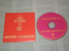 Gavin Friday The World According to Me - A Retrospective Promo CD Island Records