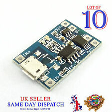 10x 18650 5V Micro USB Lithium Battery Charger Board Module 1A