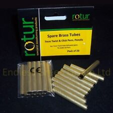 20 BRASS TUBES - Planet Pen Making Spares. Makes Standard size pens  7mm x 50mm