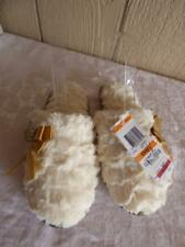 Charter Club Sculpted Pile Scuff Slippers, Ivory,  Small US 5-6