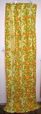 Montgomery Ward Pinch Pleat Drapes 2 Panels Matching Shams Vintage Yellow Floral