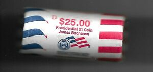 Roll of 2010-D James Buchanan Presidential Dollars US Mint Wrapped Roll