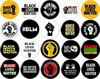 Black Lives Matter 20 NEW 1 Inch (25mm) Set of 20 Pinback Buttons Badge Pins 1""