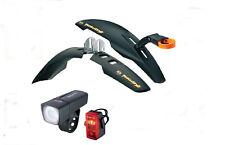 "SKS Rowdy Set Dirtboard 20"" -24"" + Sigma LED beleuchtungsset, MTB, BMX,"