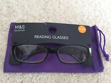 M&S Reading Glasses Black Mix +1.50 New with Tags