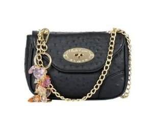 Claudia Canova Small Flap Over Clasp Fastening Shoulder Bag - Navy