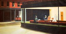 Nighthawks by Edward Hopper A1 High Quality Canvas Print