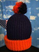 Vintage Denver broncos Chicago Bears colors ball Winter Hat Beanie Cap