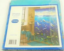 Shower Curtain Spring Homes New Dolphin Bay Blue Size 70 Inches By 72 Inches