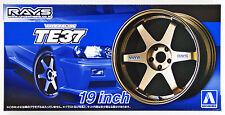 Aoshima 53904 Tuned Parts 57 1/24 Volk Racing TE 37 19 inch Tire & Wheel Set