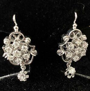 "DIAMOND DROP ""ANTIQUE"" Style EARRINGS with Diamond Drop"