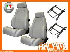 AUTOTECNICA ADVENTURER SEAT LEATHER GREY LANDCRUISER 100 1998-2007 ADAPTOR PAIR