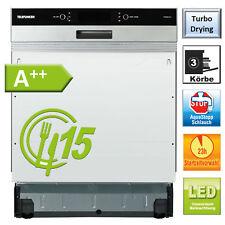 Geschirrspüler A++ Spülmaschine 60cm Einbau 6 Programme Aquastop teilintegriert