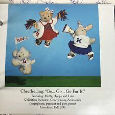 "Muffy Vanderbear '96 Muffy Hoppy & Lulu Cheerleader Dolls & Outfits ""Go Fur It"""