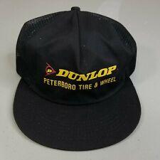 Vintage Dunlop Peterborough Tire Wheel Trucker Snapback Hat Cap Black K-Brand