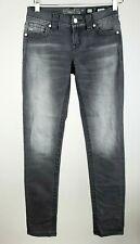 Miss Me Women's 25 Gray Mid-Rise Slim Skinny Denim Jeans