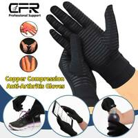 Copper Infused Arthritis Gloves Compression Support Hands Pain Relief Women Men