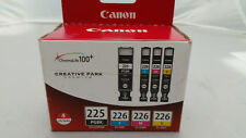 GENUINE CANON INK 4 TANKS 225 PGBK 226C 226M 226Y