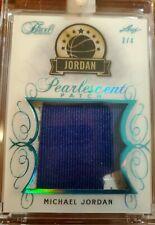 2019 Leaf Pearl, MICHAEL JORDAN, jumbo Game Used Prime Jersey Patch! Ser#2/4
