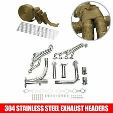 For 07-14 4.8L 5.3L 6.0L Chevy Gmc Long Tube Stainless Steel Headers w/ Y Pipe