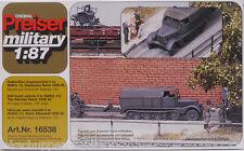 PREISER Militar 16538 tractor de semicadena 3 to Ejército 1:87/ H0 [H]