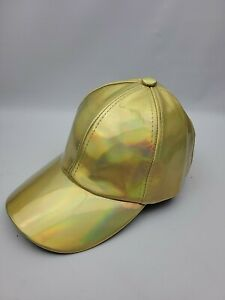 Gold Rainbow Color Change Prism Hat. Prop Halloween.