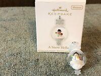 Hallmark Keepsake Ornament Miniature A Snow Hello 2012