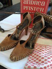 ANDREA PFISTER Vintage Size 5 1/2  high heel & bag set
