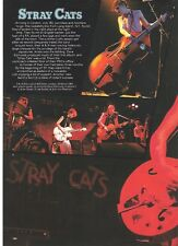 STRAY CATS London 1980 2 page  magazine PHOTO / Pin Up / Poster 11x8 inches