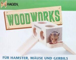 Hagen Woodworks - Holzhaus - Naturholz - Hamster - Haus - Nagerhaus - Maus