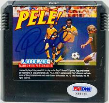 Pele! Accolade Signed Sega Genesis Video Game Autographed Brazil PSA DNA COA