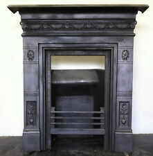 Original Restored Antique Victorian Cast Iron Bedroom Fireplace Small (PK085)