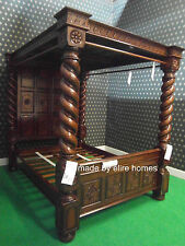 19cm thick columns 100% solid Mahogany Four Poster Impressive Bed bedframe