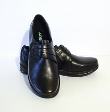 Women's Apex Linda Classic Monk Strap Black leather Shoes Size 11M