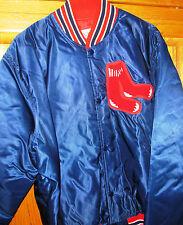 BOSTON RED SOX  VINTAGE 80'S NEW STARTER MLB SATIN RETRO JACKET  SIZE LARGE