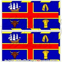 "ADELAIDE Armorial Flag South Australia, Australian Stickers, Decals 75mm(3"")  x2"