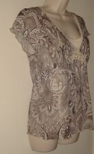 """Molly Maxi Netted Pull Over Blouse  Size L (Runs Smaller)  Bust 34""""  Length 25"""""""
